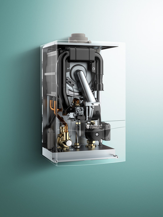 X-ray front view of ecoTEC plus gas boiler 48-65kW